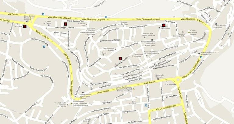 mappa palazzi aule