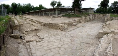 Urbs Salvia, area del Tempio Criptoportico. L'incrocio stradale